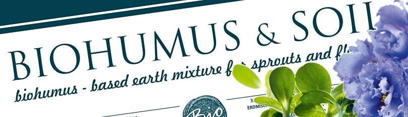 Biohumus — based earth mixture